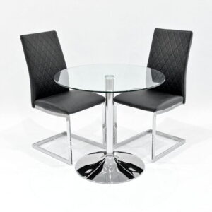 Iowa Dining Set with 2 Chairs Metro Lane