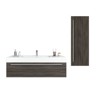 Isenberg 1200mm Vanity and Mirror Set Belfry Bathroom Furniture Finish: White/Anthracite