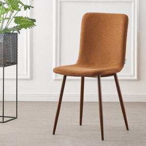 Jaxon Upholstered Dining Chair Corrigan Studio Upholstery Colour: Rust