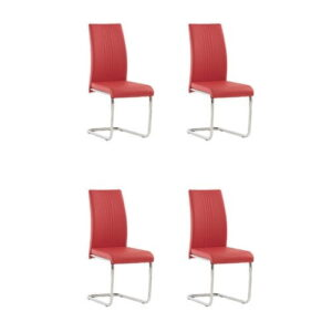 Larkson Upholstered Dining Chair Metro Lane Upholstery Colour: Pillar Red, Number Of Chairs: 1