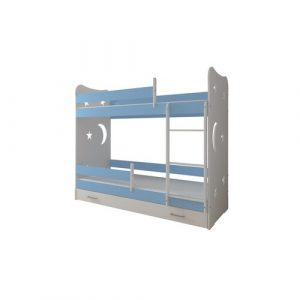 Linton Bed Isabelle & Max Size: 80 x 180 cm, Colour (Bed Frame): Blue, Configuration: With Drawer