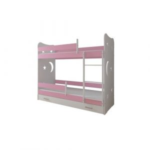 Linton Bed Isabelle & Max Size: 80 x 180 cm, Colour (Bed Frame): Pink, Configuration: With Drawer