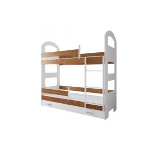 Lipe Bed Isabelle & Max Size: 80 x 160 cm, Colour (Bed Frame): Oak, Configuration: With Drawer