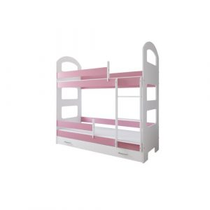 Lipe Bed Isabelle & Max Size: 80 x 160 cm, Colour (Bed Frame): Pink, Configuration: With Drawer