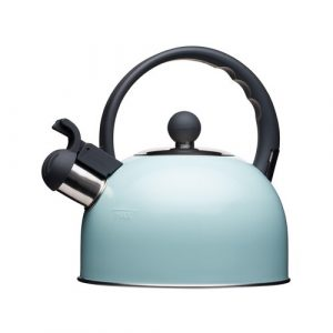 Living Nostalgia 1.4L Stainless Steel Whistling Stovetop Kettle KitchenCraft Colour: Blue