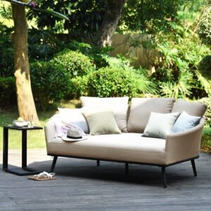 Loveland Garden Sofa with Cushions Sol 72 Outdoor Colour: Taupe