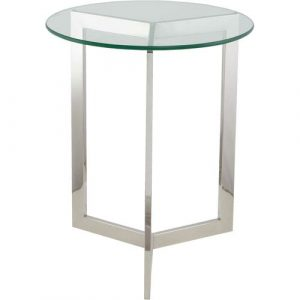 Maggie Side Table Wade Logan Table Base Colour: Nickel