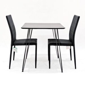Maguire Dining Set with 2 Chairs Metro Lane Chair Colour: Black