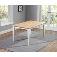 Mark Harris πpe; Chichester Solid Hardwood and Painted 150cm Dining Table - Oak & White
