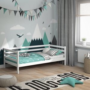 Maxey European Single (90 x 200cm) Bed Frame Isabelle & Max Colour (Bed Frame): White
