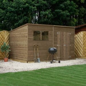 Mccaffrey 12Ft W x 7Ft D Solid Wood Garden Shed Sol 72 Outdoor Installation Included: Yes