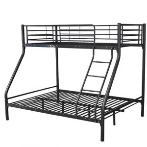 Montreal Double Bunk Bed Isabelle & Max Bed Frame Colour: Black