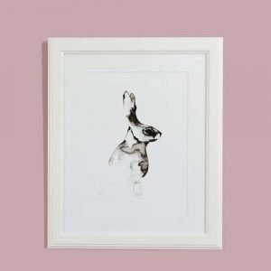 Mounted Hazel - Graphic Art Print on Paper August Grove Format: Picture Frame, Size: 40cm H x 30cm W x 4cm D