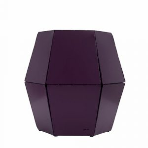 Natasha Side Table Ebern Designs Colour: Plum
