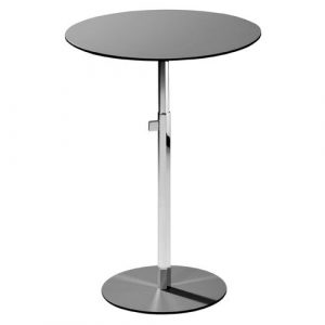 Nivelles Side Table Wade Logan Colour (Table Top): Grigio Londra Grey, Colour (Table Base): Grigio Londra Grey