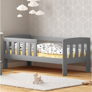 Piccolo Toddler Bed Nordville Size: Cot Bed / Toddler (70 x 140cm), Colour (Bed Frame): grey