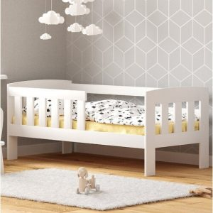 Piccolo Toddler Bed Nordville Size: Cot Bed / Toddler (70 x 140cm), Colour (Bed Frame): white