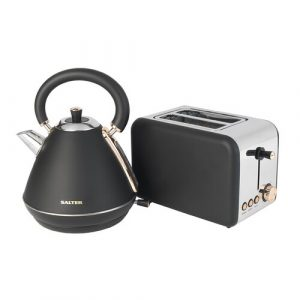 Pyramid 1.7L Stainless Steel Electric Kettle with 2-Slice Toaster Salter