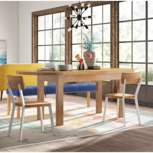 Rayleigh Large D-End Extendable Dining Table Gracie Oaks