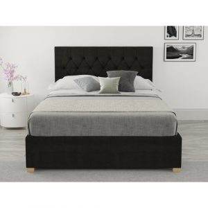 Samaira Upholstered Ottoman Bed Hashtag Home Colour: Charcoal, Size: Small Double (4')