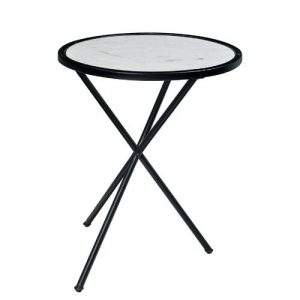 Saramarie Small Marble Side Table Ebern Designs