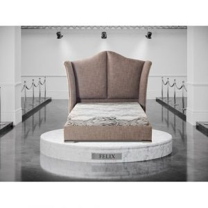 Sheeley Upholstered Bed Brayden Studio Colour: Brown, Size: Double (4'6), Base Type: Standard Bed Frame