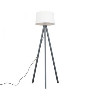 Sikes 148cm Tripod Floor Lamp Mercury Row Base Finish: Grey, Bulb Type: No