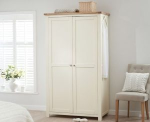 Somerset Oak and Cream Two Door Wardrobe