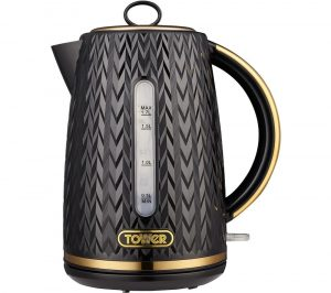 TOWER Empire Collection T10052BLK Jug Kettle - Black, Black
