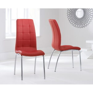 Tekla Dining Set with 4 Chairs Mercury Row Colour (Chair): Red