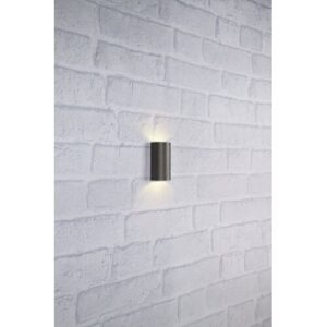 Thoreau 2-Light LED Outdoor Sconce Sol 72 Outdoor Shade Finish: Dark Grey