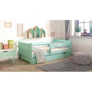 Toddler Bed with Drawer Nordville Size: European Toddler (80 x 160 cm), Colour (Bed Frame): Turquoise