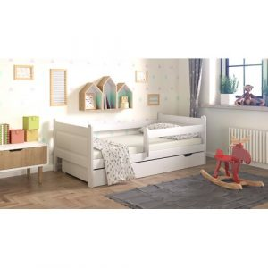 Toddler Bed with Drawer Nordville Size: European Toddler (80 x 160 cm), Colour (Bed Frame): White