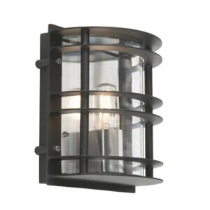 Ullmann 1 Light Outdoor Flush Mount Sol 72 Outdoor Finish: Clear Black, Bulb: 60W E27