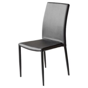 Upholstered Dining Chair House Additions Upholstery Colour: Black