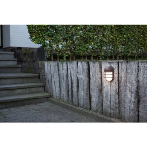 Vahig LED Outdoor Bulkhead Light Sol 72 Outdoor Fixture Finish: Brone