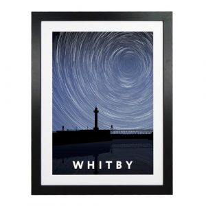 'Whitby Night Timelapse' Graphic Art East Urban Home Format: Black Wood Frame, Size: 54 cm H x 44 cm W x 2.2 cm D