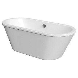 Wickes Eden Freestanding Contemporary Twin Skirted Oval Bath - 1700 x 755mm