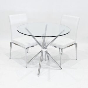 Wommack Dining Set with 2 Chairs Metro Lane