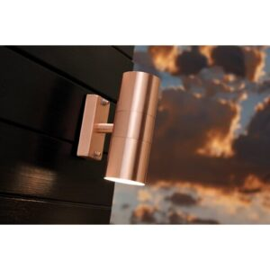 1 Light Outdoor Sconce Nordlux Finish: Copper