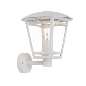 1 Light Outdoor Wall Lantern Sol 72 Outdoor Finish: White