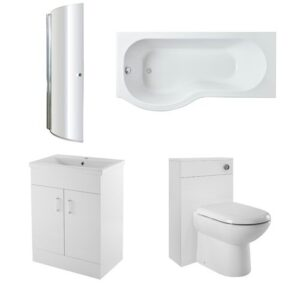 1700mm Bathroom Suite Nuie Bath Configuration: Left-Handed