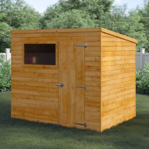 8 Ft. W x 6 Ft. D Solid + Manufactured Wood Garden Shed WFX Utility Installation Included: Yes