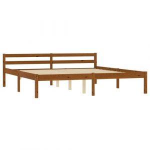 Aaryahi Bed Frame Mercury Row Size: European Double (140 x 200 cm), Colour: Honey Brown