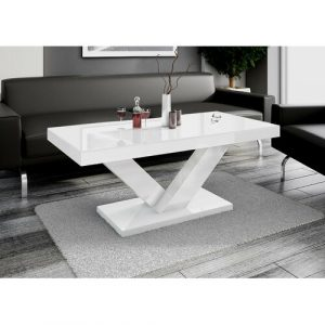Abramson Coffee Table Wade Logan Colour: High-gloss white