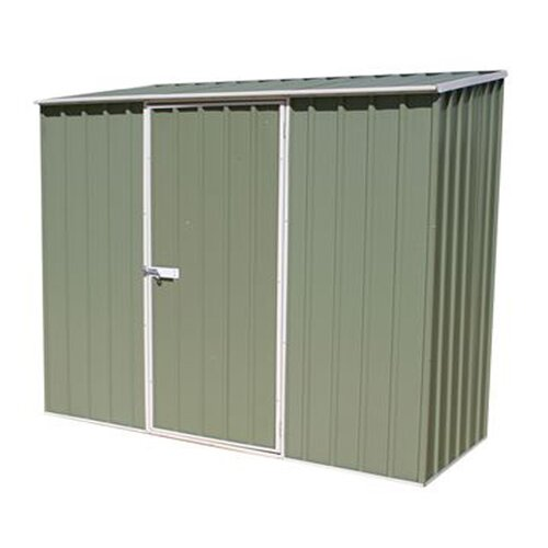 Absco 7 ft. W x 3 ft. D Metal Shed Lean-To Garden Shed WFX Utility Colour: Green, Installation Included: Yes