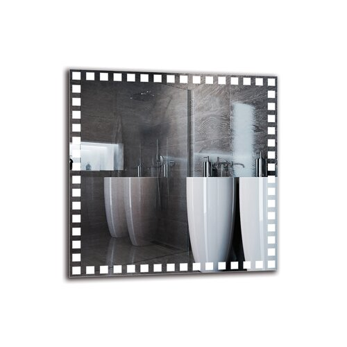Adil Bathroom Mirror Metro Lane Size: 80cm H x 80cm W