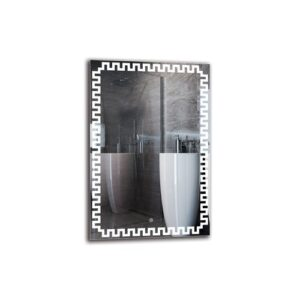 Aldous Bathroom Mirror Metro Lane Size: 90cm H x 60cm W