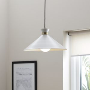 Apennin Matt Cream Pendant ceiling light