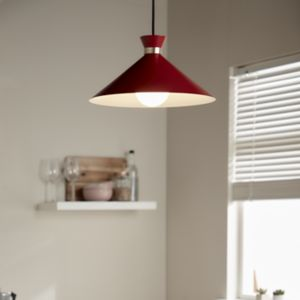Apennin Matt Red Pendant ceiling light